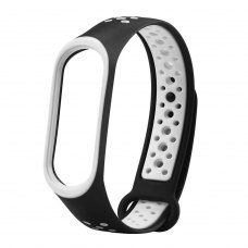 Браслет для Xiaomi Mi Band 3 (Sport silicone) Black/White