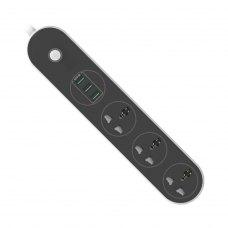 Мережевий фільтр, 1.8м, 3 розетки + 3 USB, ColorWay (CW-CHU33B), чорний