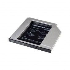Адаптер підключення  HDD 2,5  у відсік приводу ноутбука SATA/SATA3 Grand-X (HDC-25N)