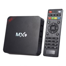 ТВ приставка MX9-4K Android7.1, RK3229 Cortex A7 1.2GHz, 1Gb, 8Gb, SDcard upto32Gb, WiFi, 4K/FulHD