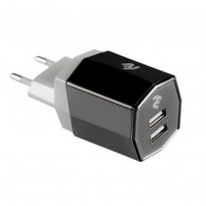 МЗП 2E Dual USB Wall Charger (220В, 3.4A), black
