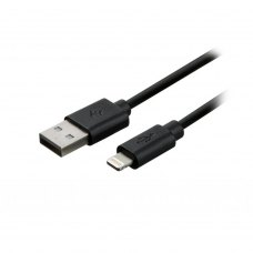Кабель 2E USB 2.0 to Lightening Cable Single Molding Type, Black,1m