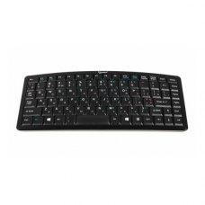 Клавіатура бездротова Gembird KB-6016-RUA, каркас клавіш ножичного типу, вигнутий дизайн, RF інтерфейс