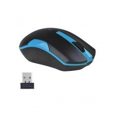 Мишка бездротова, A4Tech (G3-200N Black+Blue), стандартна, V-Track, оптична 1000dpi, 3кн+1кол, 1xAA, радіо, USB-нано ресівер, чорний