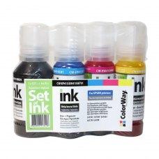 Комплект чорнил ColorWay  Epson L-4150/4160/6160/6170 (127мл+3х70мл) BK/С/M/Y