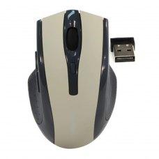 Мишка бездротова, Defender Accura MM-665 Grey (52666), стандартна, оптична 1600dpi, 5кн+1кол, 2xAAA, радіо, USB-нано ресівер, сіра, Blister