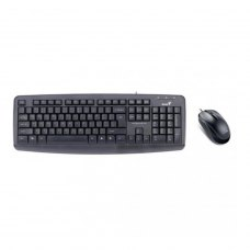 Комплект дротовий (клавіатура+мишка), Genius KM-130 USB Black (31330210115), USB