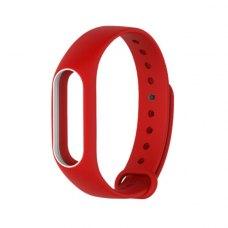 Браслет для Xiaomi Mi Band 2 MiJobs (silicone) Red/White