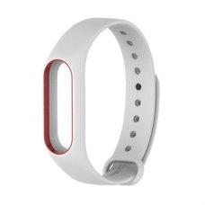 Браслет для Xiaomi Mi Band 2 MiJobs (silicone) White/Red