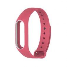 Браслет для Xiaomi Mi Band 2 MiJobs (silicone) Pink/White
