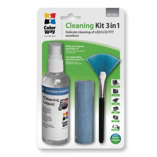Універсальний чистячий набір ColorWay набір 3в1 Спрей, пензлик, мікрофіб. (CW-1031)