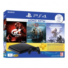 Ігрова консоль PlayStation 4 1ТВ+Horizon Zero Dawn (Complete Edition)+GoW+GTS