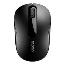 Мишка бездротова, Rapoo (M10 plus), стандартна, оптична 1000dpi, 3кн+1кол, 1xAA, радіо, USB-нано ресівер, Black