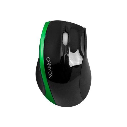 Мишка CANYON CNR-MSO01NG чорно-зелена, оптична, 800 dpi, дротова, USB