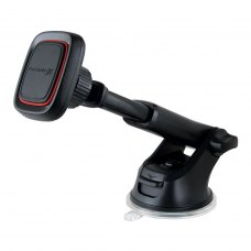 Автомобільний тримач магнітний для смартфонів телескопічний Grand-X МТ-06 (кріплення на панель або скло), Black