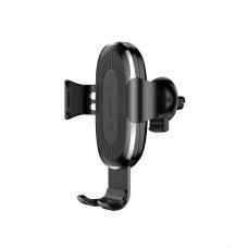 Автотримач + бездротовий зарядний пристрій Baseus Wireless Charger Gravity Car Mount, Black