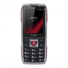(УЦІНКА)Мобільний телефон ERGO F246 Shield Black-Red ** бу ,потертості на екрані та корпусі