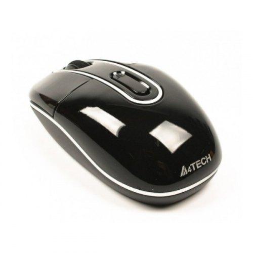 Мишка бездротова, A4Tech (G7-300N-1 Black), ноутбучна, V-Track, оптична 1000dpi, 2кн+1кол 4D, 2xAAA*