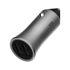 Автомобільний зарядний пристрій Xiaomi Mi Car Charger Quick Charge 18W QC3.0 Dual USB (CC05ZM), Silver