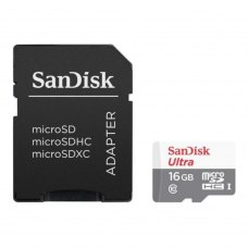 MicroSDHC card 16G C10 UHS-I SANDISK ULTRA 80MB/s (SDSQUNS-016G-GN3MA)