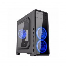 Корпус без БЖ GameMax G561 (G561 BLACK) Miditower, Black, 1 x USB 3.0, 2 х USB 2.0, 3x вентилятора led