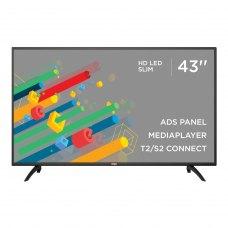 Телевізор ERGO 43DF3000 LED,1920x1080,60 Гц,8мс,DVB-T,DVB-C,DVB-S,DVB-S2,DVB-T2,250кд/м²,2x8 Вт