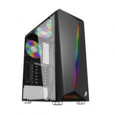 Корпус 1stPlayer Rainbow-R3 Color LED Black без БП 6931630200376