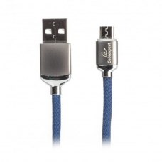 Кабель Cablexpert CCPB-M-USB-07B microUSB 2.4A, Blue