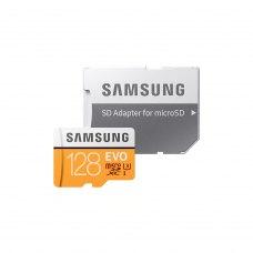 microSDXC карта, 128 Гбайт, class 10, Samsung EVO UHS-I U3 (MB-MP128GA/RU)