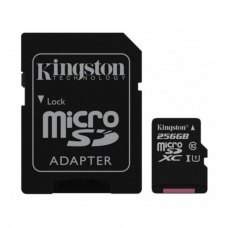 MicroSDXC card 256G C10 UHS-I KINGSTON Canvas 80MB/s + adapter (SDCS/256GB)