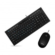 Комплект дротовий (клавіатура+мишка), Crown CMMK-855 USB Black