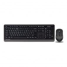 Комплект бездротовий (клавіатура+мишка), A4 Tech FG1010 (Grey)