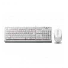 Комплект дротовий (клавіатура+мишка), A4Tech F1010 (White)