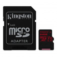 microSDXC карта 64Gb Kingston class10 з SD адаптером