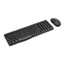 Комплект дротовий (клавіатура+мишка), Rapoo N1820 USB Black, стандартний, Black