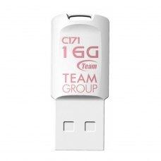 USB флеш 16Gb Team C171 White USB 2.0 (TC17116GW01) пластик Колір - білий вушко для кріпл