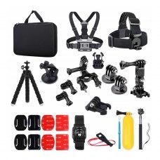 Набір аксесуарів 25 в 1 в кейсі ACK-2 для екшн-камер GoPro, AIRON, SONY, ACME, Xiaomi, SJCam, EKEN