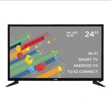 Телевізор Ergo 24DH5500 LED,1336х768,SmartTV,60Гц,DVB-C,DVB-S2,DVB-T2,180кд/м²,3xHDMI,2xUSB,100x100мм