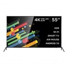 Телевізор ERGO 55DU6510 3840x2160,SmartTV,350кд/м²,DVB-T,DVB-C,DVB-S,DVB-S2,DVB-T2,2x8Вт,HDMIx3,USBx2,400x200мм