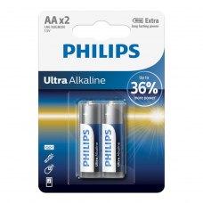 Батарейка Philips Ultra Alkaline AA BLI 2 (LR6E2B/10)