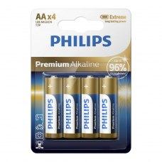 Батарейка Philips Premium Alkaline AA BLI 4 (LR6M4B/10)