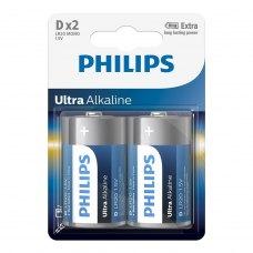 Батарейка Philips Ultra Alkaline D BLI 2 (LR20E2B/10)