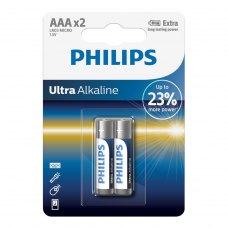 Батарейка Philips Ultra Alkaline AAA BLI 2 (LR03E2B/10)