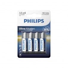 Батарейка Philips Ultra Alkaline AA BLI 4 (LR6E4B/10)