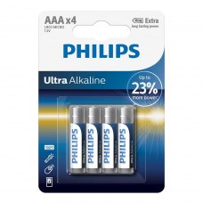 Батарейка Philips Ultra Alkaline AAA BLI 4 (LR03E4B/10)