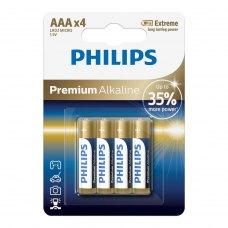 Батарейка Philips Premium Alkaline AAA BLI 4 (LR03M4B/10)
