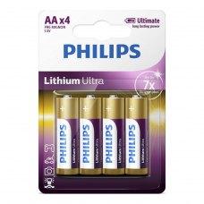 Батарейка Philips Lithium Ultra AA BLI 4 (FR6LB4A/10)
