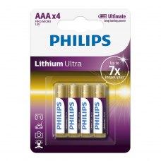 Батарейка Philips Lithium Ultra AAA BLI 4 (FR03LB4A/10)