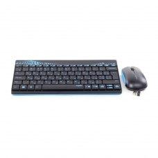 Комплект бездротовий (клавіатура+мишка), Rapoo 8000M Black