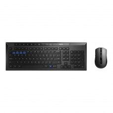 Комплект бездротовий (клавіатура+мишка), Rapoo 8200M Black